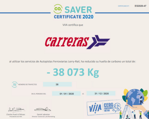 Certificado CO2 Grupo Carreras